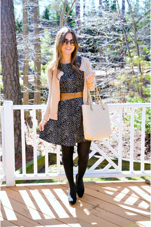 patterned Boohoo dress - kate spade bag