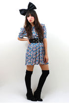 bonjour vintage dress - Urban Outfitters shoes - Forever 21 accessories - Target