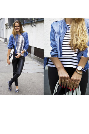 blue Zara shirt