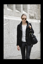 bikerjacket Zara jacket - camel mirror rayban accessories