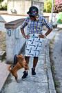 New-york-yankees-snapback-hat-checkered-piazza-italia-shirt