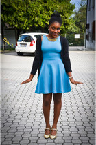 Miss Sixty shoes - Zara dress - Terranova cardigan