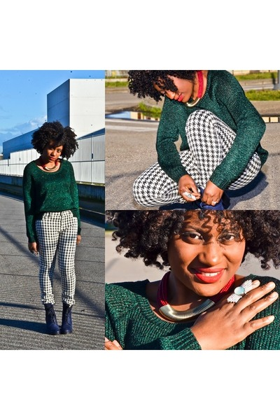 H&M sweater - Zara pants - Accessorize necklace
