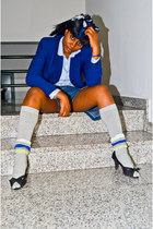zuiki shoes - united colors of benetton blazer - H&M shirt - pompea socks
