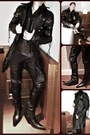 Black-leather-miguel-jones-boots-black-leather-coat