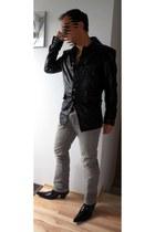 black Jones boots - silver Hilfiger Denim jeans