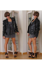 vintage jacket - H&M dress - Primadonna shoes - vintage sunglasses