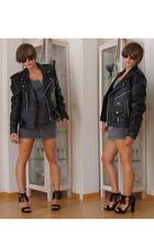 vintage jacket - H&M dress - Primadonna shoes - vintage sunglasses