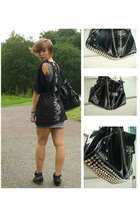 H&M dress - t-shirt - lindex purse