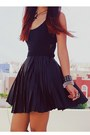 Black-motelrocks-dress-black-bershka-boots