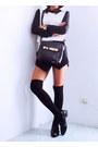 Black-ripple-design-wholesale7net-shoes-black-romwecom-bag