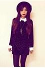 Black-platform-luluscom-boots-black-sheinsidecom-dress-black-romwecom-hat