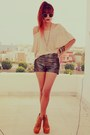 Nude-becca-striped-clubcouture-sweater-dark-brown-romwe-shorts