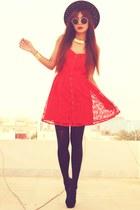 red lace Dahlia dress