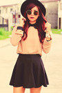 Tawny-wholesale7net-blouse-black-retro-ruffle-romwecom-skirt