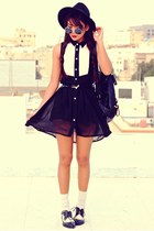black Oasapcom shoes - black Romwecom dress