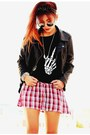Crimson-velvet-h-m-boots-black-leather-sheinside-jacket