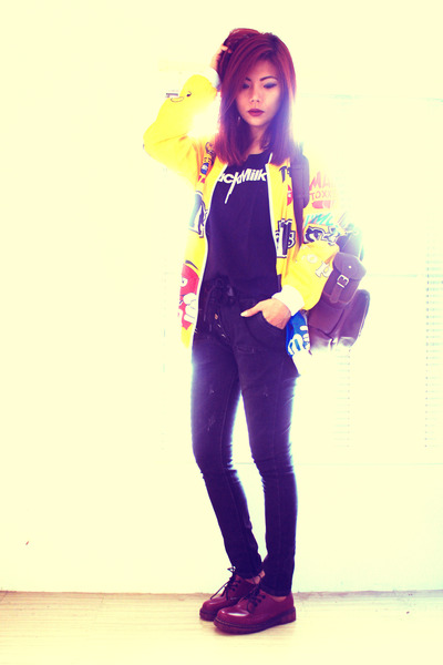crimson leather bag grafeacom bag - yellow mm print Romwecom jacket