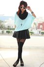 Brown-oasap-shoes-aquamarine-over-sized-knit-goodnightmacaroon-sweater