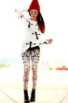 white cross inlovewithfashion jumper - black babilonia Lovelysally leggings