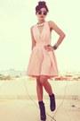 Black-forever-21-boots-pink-clubcouture-dress-black-romwe-bracelet
