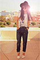 black creepers choiescom shoes - navy Romwecom jeans