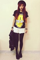 black Sheinsidecom t-shirt - black creepers choiescom shoes
