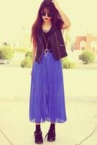 black creepers choiescom shoes - blue banggoodcom dress