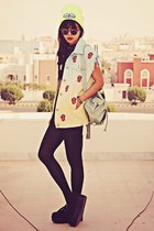 aquamarine denim Romwecom jacket - black creepers choiescom shoes