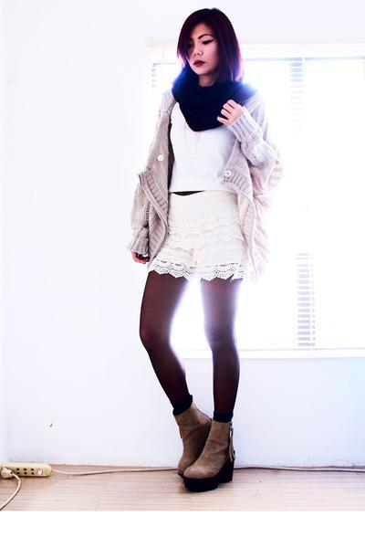 tan Romwecom cardigan - light brown wholesale7net boots