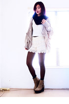 tan Romwecom cardigan - light brown wholesale7net boots