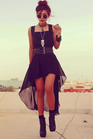 black ClubCouture dress - silver OASAP necklace