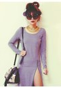 Black-studded-choiescom-boots-heather-gray-split-sheinsidecom-dress