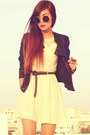Cream-romwe-shoes-cream-lace-vintage-dress-black-leather-topshop-jacket