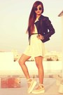 Cream-romwe-shoes-cream-lace-vintage-dress-black-leather-topshop-jacket