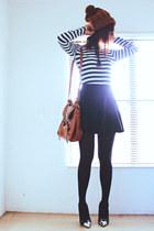 black retro round Romwecom skirt - dark brown messenger banggoodcom bag