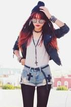 black magnetic romwe bracelet - black slim Sheinside jacket