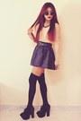 Nude-lace-inlovewithfashioncom-top-black-studded-leather-romwecom-skirt