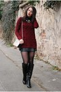 Black-next-boots-off-white-h-m-bag-crimson-f-f-jumper