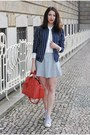 Navy-hm-jacket-red-topshop-bag-diy-skirt