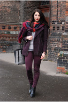 lindex coat - brick red Zara scarf - H&amp pants