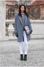 Black-reserved-boots-heather-gray-diy-coat-white-diy-bag