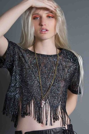 fringe crop top vintage top