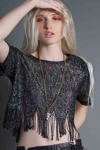 Fringe-crop-top-vintage-top