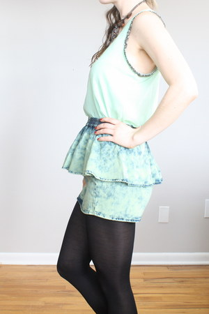 mint blouse blouse - skirt