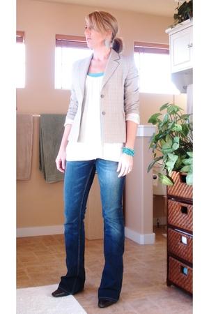 Express blazer - Old Navy shirt - Old Navy shirt - Buckle jeans - Old Navy brace