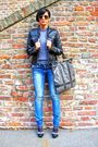 Gray-zara-sweater-black-ovieese-jacket-blue-trf-jeans-gray-emelie-strandbe