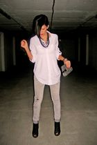 gray Zara jeans - gray Miss Sixty shoes