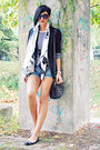 Black-pull-bear-blazer-white-handmade-scarf-black-pull-bear-bag