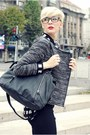 Heather-gray-lindex-blazer-black-lindex-bag-silver-lindex-blouse